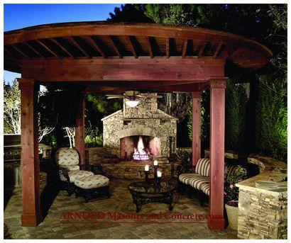On My Wish List Love This Pergola Fireplace Chimney Pergola Fireplace Pergola Outdoor Living Rooms Patio Design