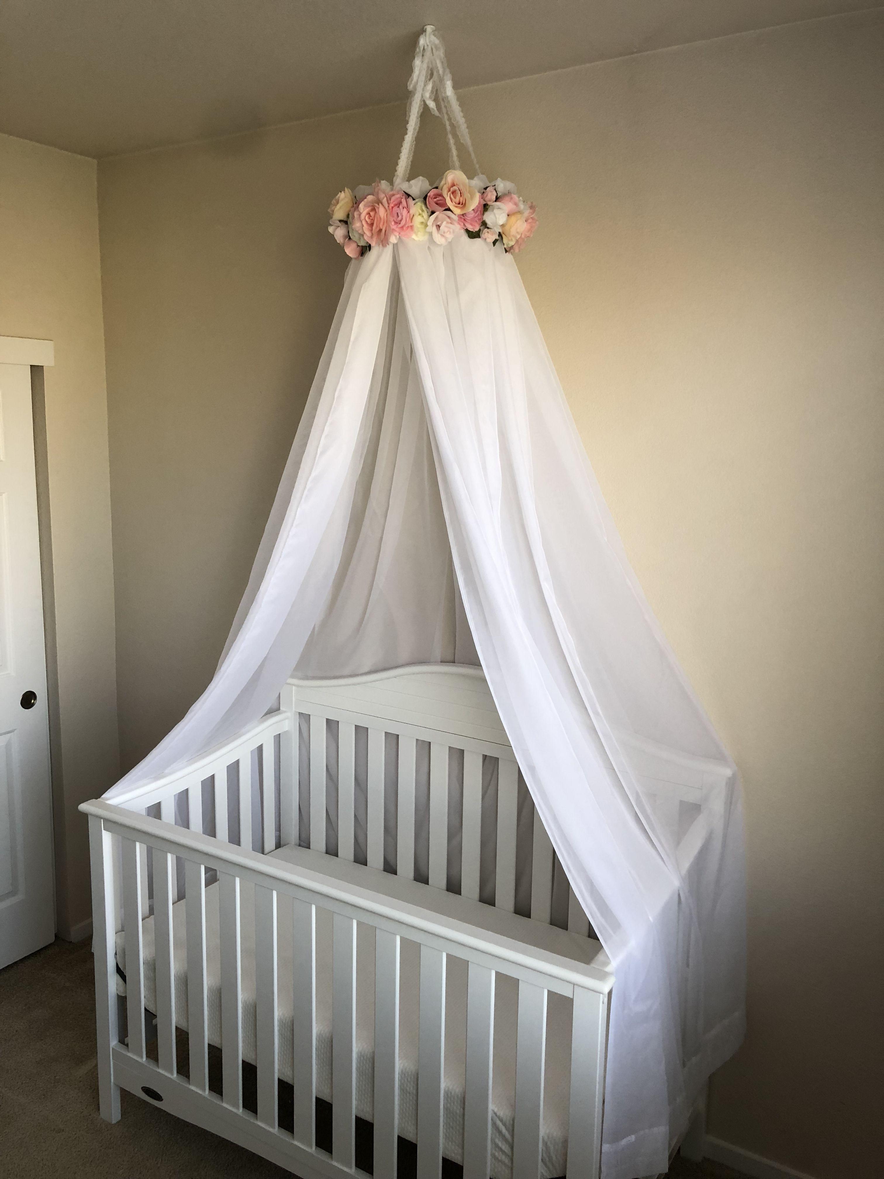 Diy floral crib canopy crib canopy cribs baby room
