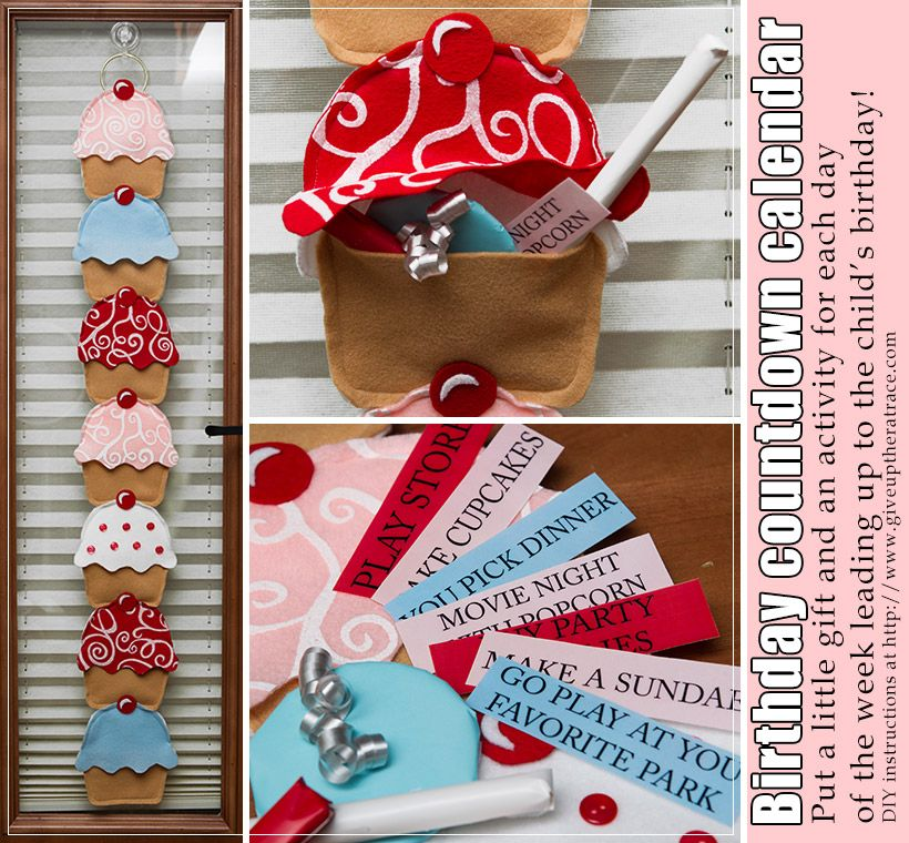 Calendar Party Ideas : Dyi cute and easy birthday countdown calendar
