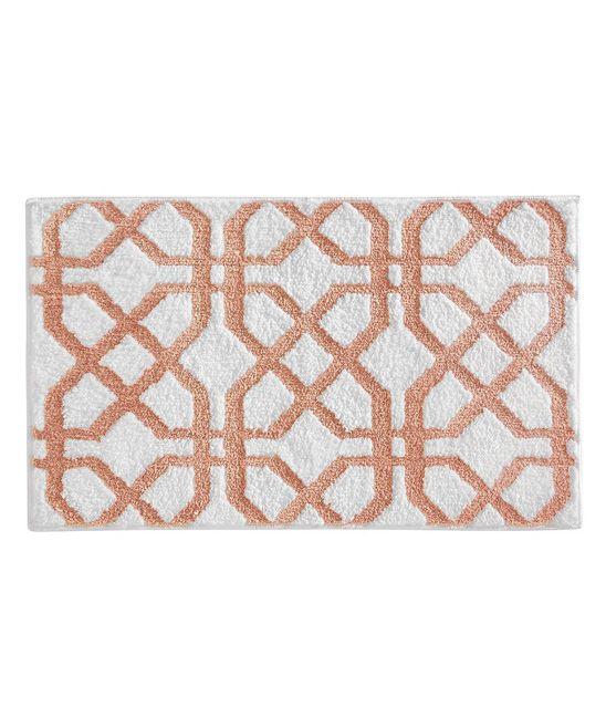 coral trellis bath rug products bath rugs rugs bathroom rh pinterest ch
