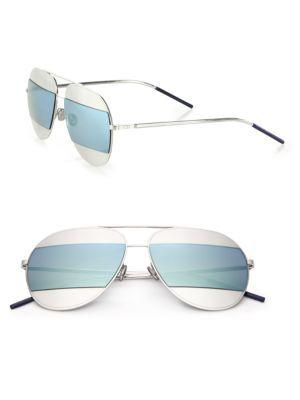 a2e14f44871d2 Dior Split1 59MM Metal Aviator Sunglasses  555