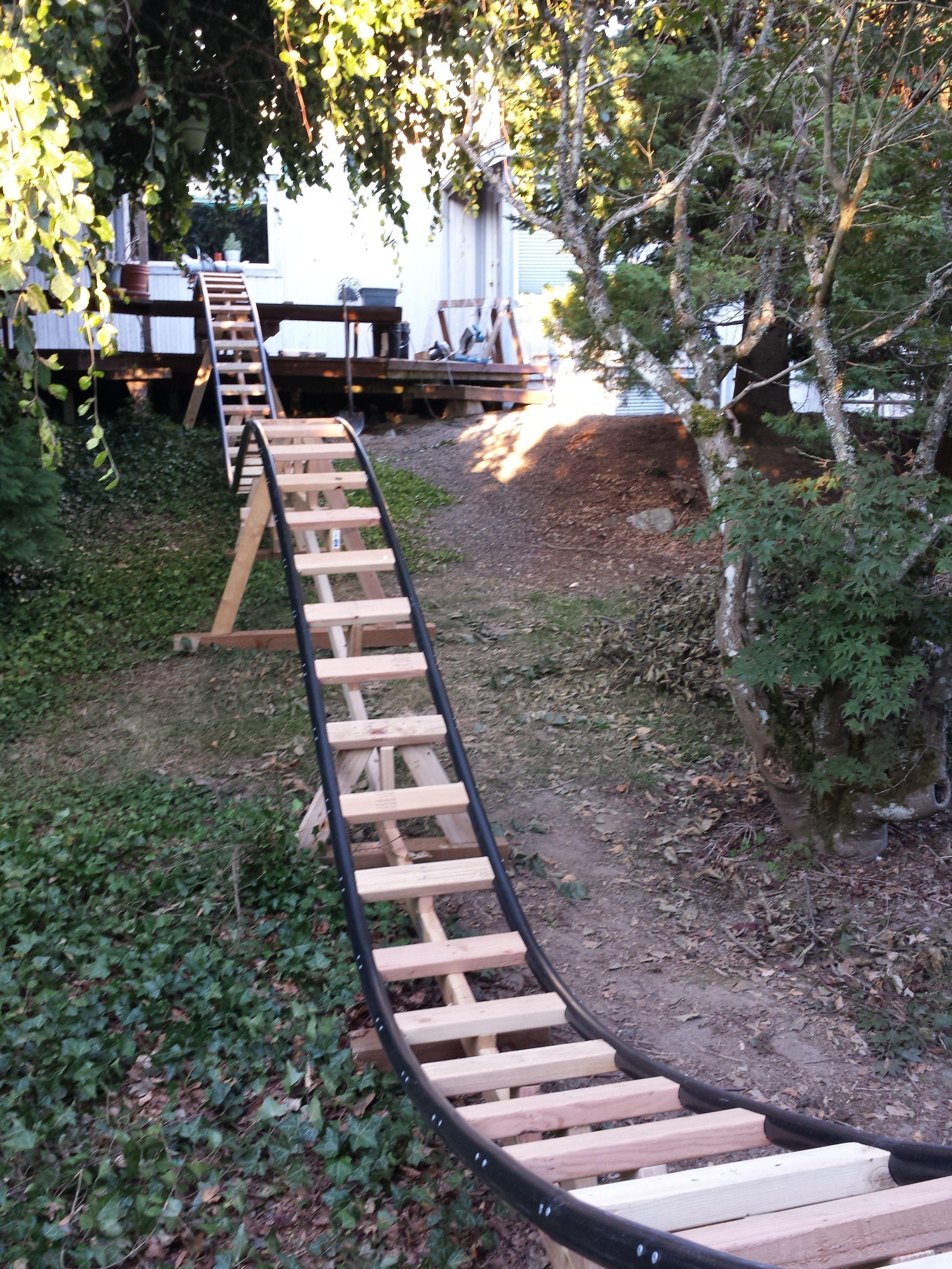 Out N Back Negative G Backyard Roller Coaster Backyard Renovations Backyard Toys Backyard Diy backyard roller coaster