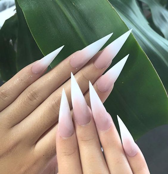 70 Cool Stiletto Nail Ideas You Ll Love To Try Neutral Nail Art
