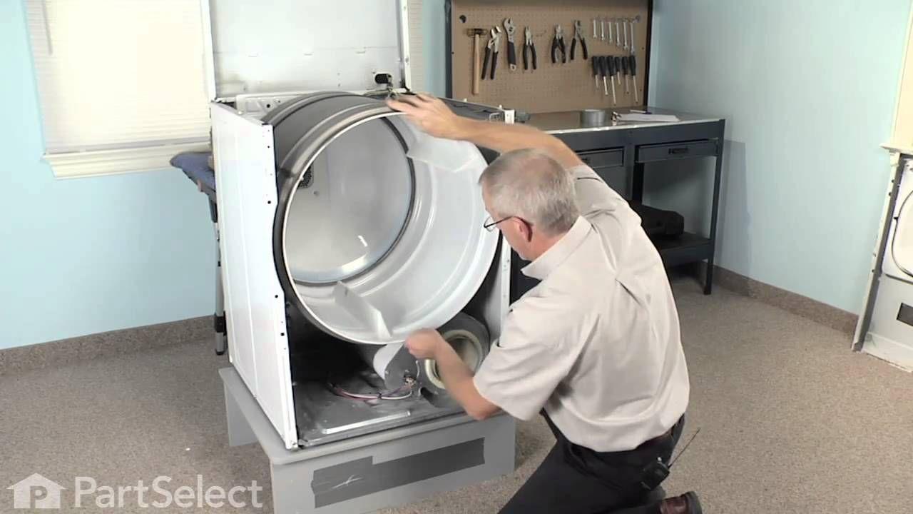 Dryer repair replacing the multi rib belt whirlpool