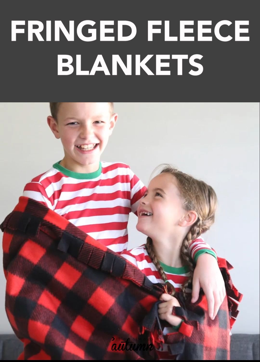 Photo of How to make an easy fringed fleece blanket