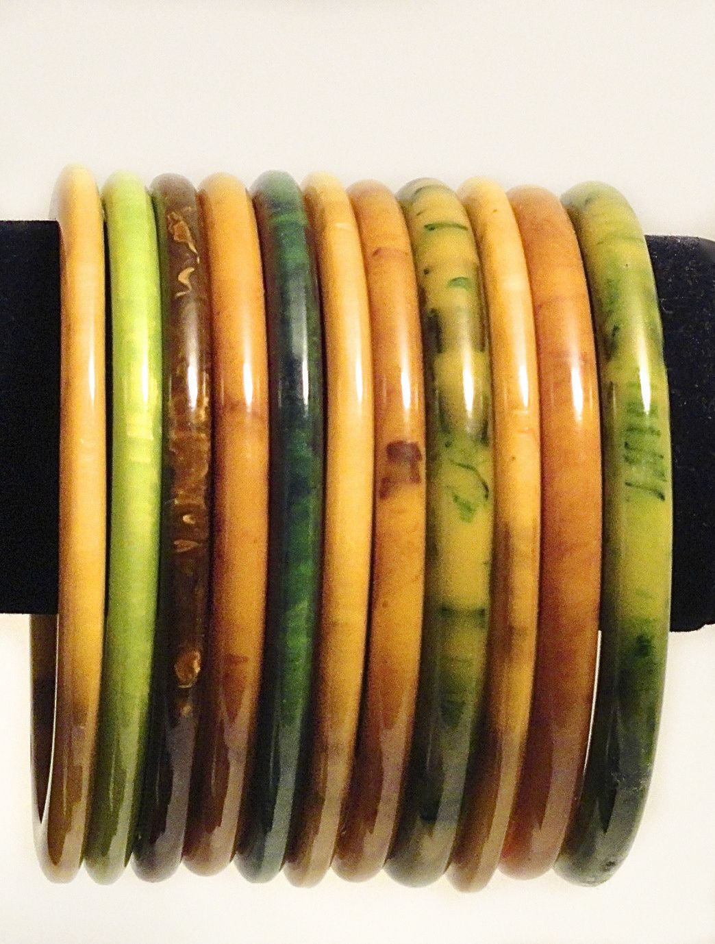 Thin Vintage Bakelite Bracelets