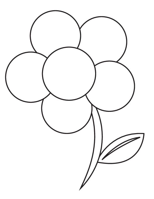 simple flower template az coloring pages - Flower Outline Coloring Page