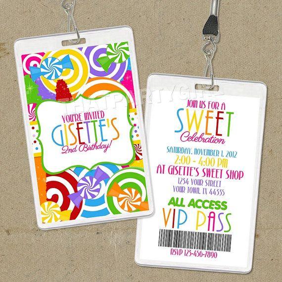 Diy candy shop birthday party invitations vip pass digital u print diy candy shop birthday party invitations vip pass digital u print free tag toppers stopboris Choice Image