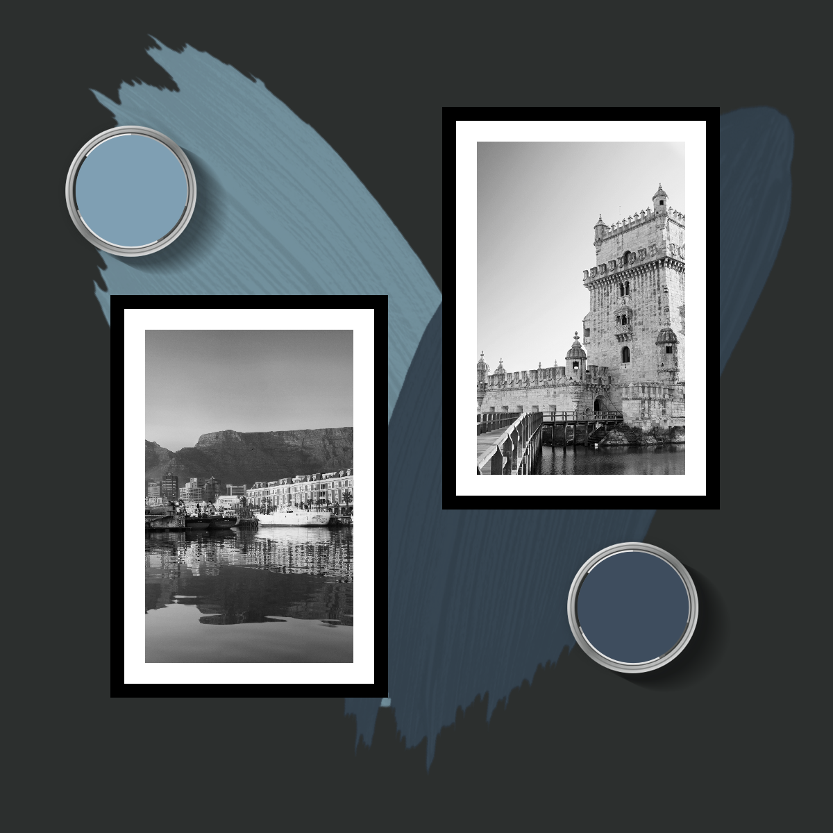 Belem Vs Waterfront Lissabon Vs Kapstadt Zwei Blautone Die Man Nur Lieben Kann Du Kannst Dich Nicht Entsche Schoner Wohnen Farbe Schoner Wohnen Wandfarbe