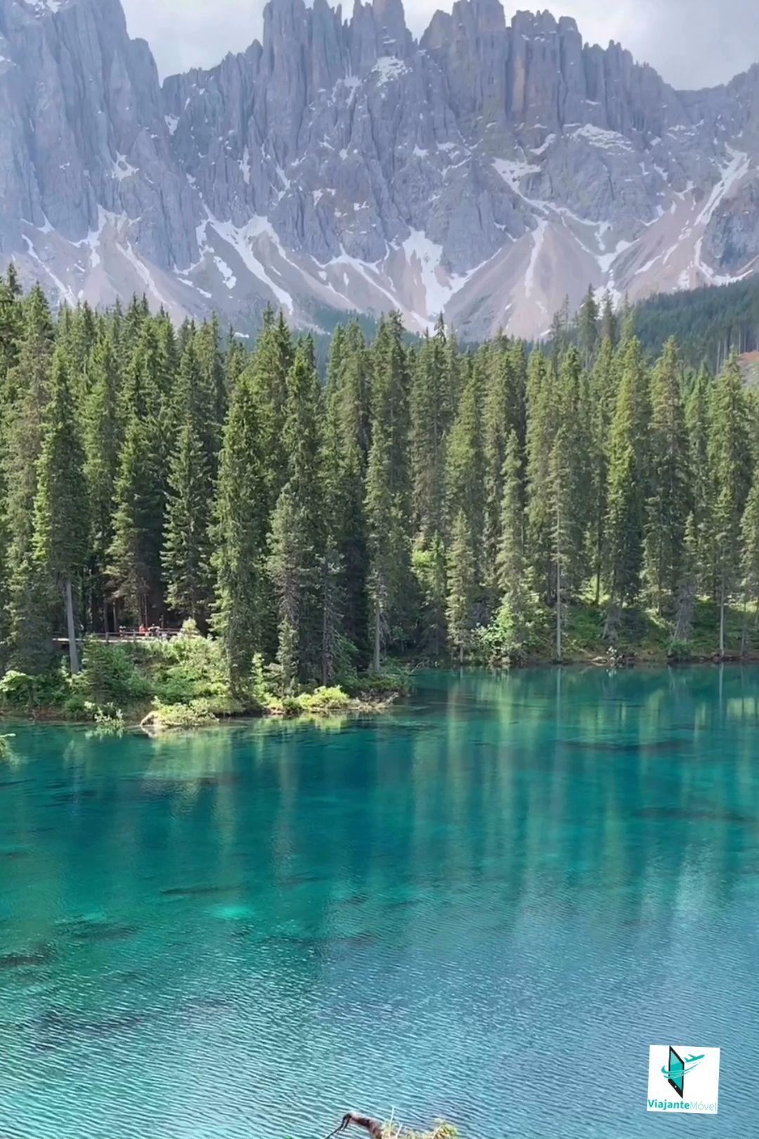 Lago Di Carezza Na Regiao Das Dolomitas No Norte Da Italia Italia Dolomites Lagodicarezza Dolomit Scenic Views Nature Beautiful Places Nature Scenic Views