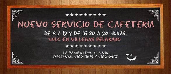Inauguramos nuestro servicio de cafetería en Villegas Belgrano.  La Pampa y vía