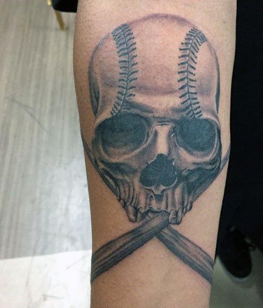 40 baseball tattoos for men a grand slam of manly ideas mike rh pinterest com harley quinn baseball bat tattoo baseball bat and glove tattoo