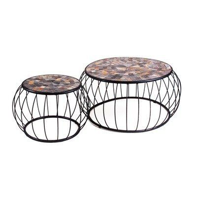 Groovy Mosaic Cage Slate Coffee Tables Set Of 2 By New Rustics Beatyapartments Chair Design Images Beatyapartmentscom