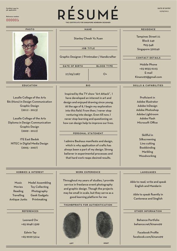 fantastic examples of creative resume designs pinterest creative