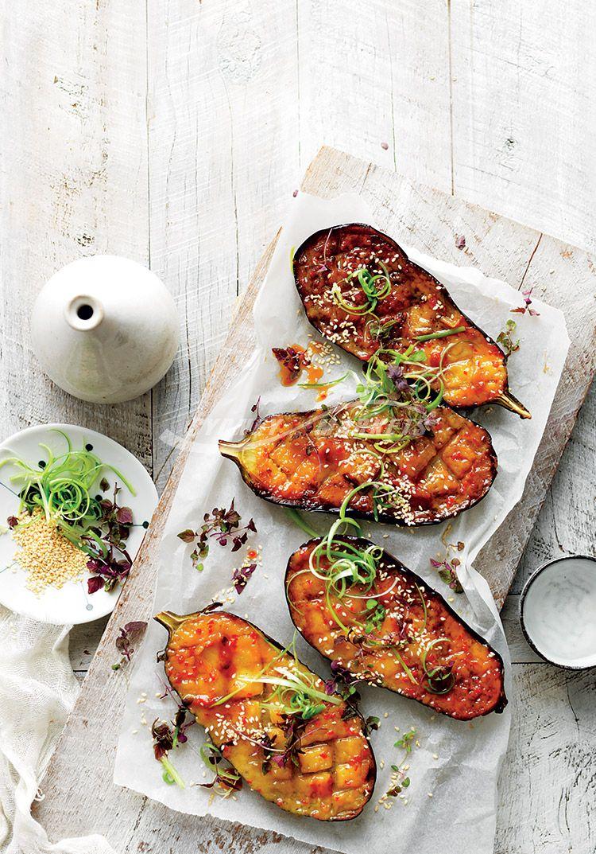 Sydney Markets Miso & chilliglazed roasted eggplant