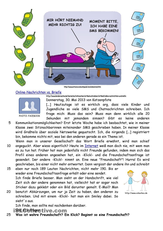 Online-Nachrichten vs. Briefe | Pinterest | Schreiben Arbeitsblatt ...