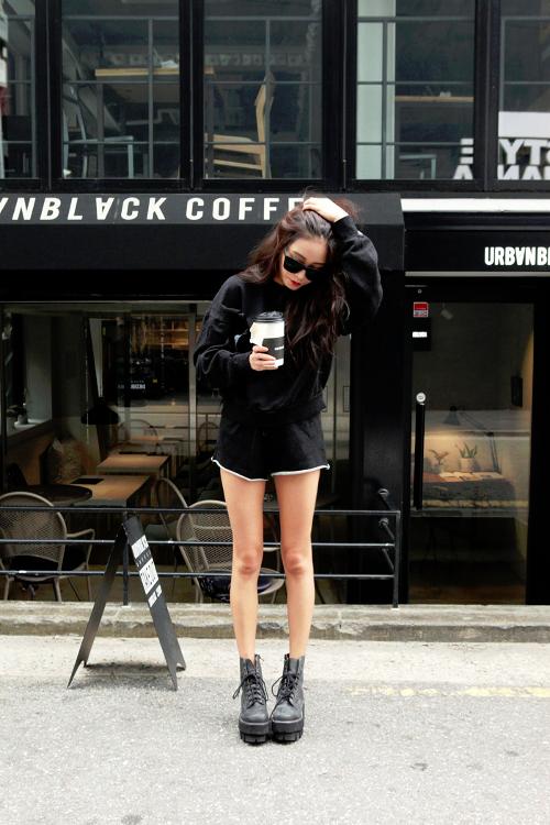 1 Tumblr Ootd Pinterest Black Style Ulzzang