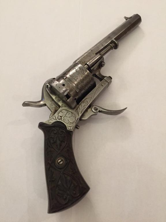Pistolet Czarnoprochowy Lefaucheux 1860r Belgia Hand Guns Guns