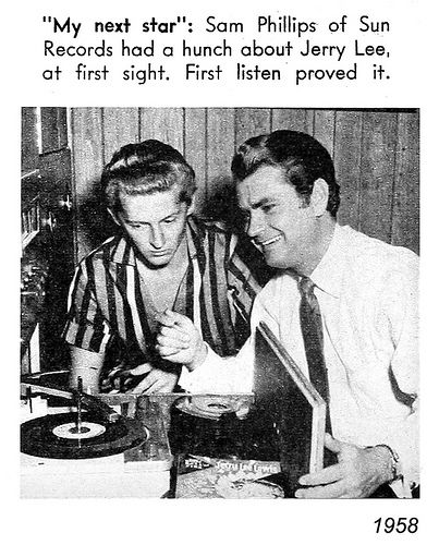 jerry lee lewis and sam phillips 1958 | Jerry lee lewis, Sam phillips, Sun  records