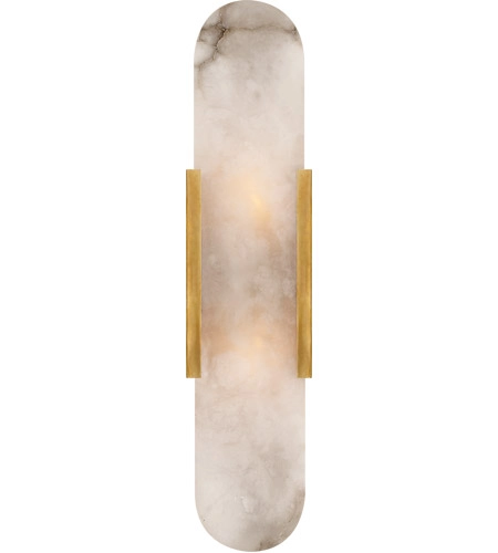Kelly Wearstler Melange Led 4 Inch Bronze Sconce Wall Light Large Elongated Alabaster Shade In 2020 Sconces Wall Lights Brass Sconce