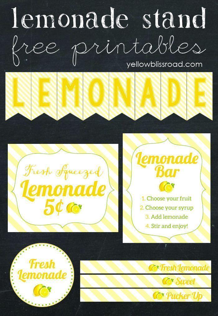 Flavored Lemonade Bar with Free Printables #flavoredlemonade Create a fabulous lemonade stand of flavored lemonade bar with these adorable free printables! #flavoredlemonade