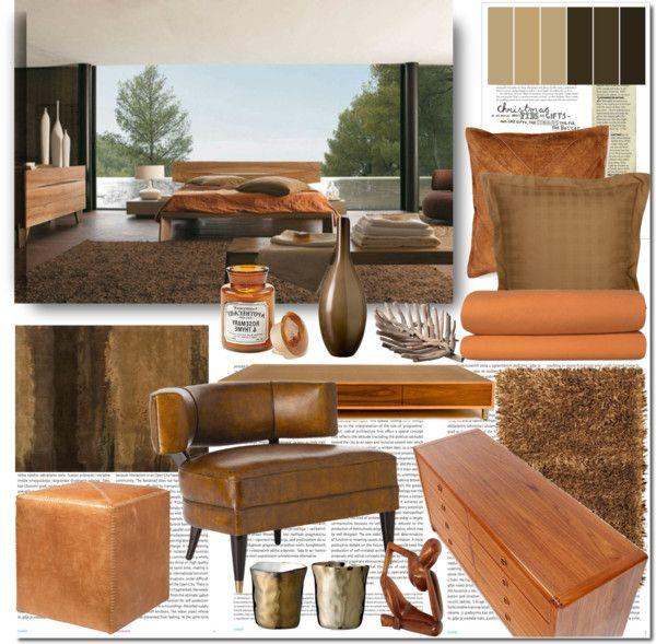 "Living Room Ideas Earth Tones earth tones - bedroom design ideas""elena-starling on polyvore"