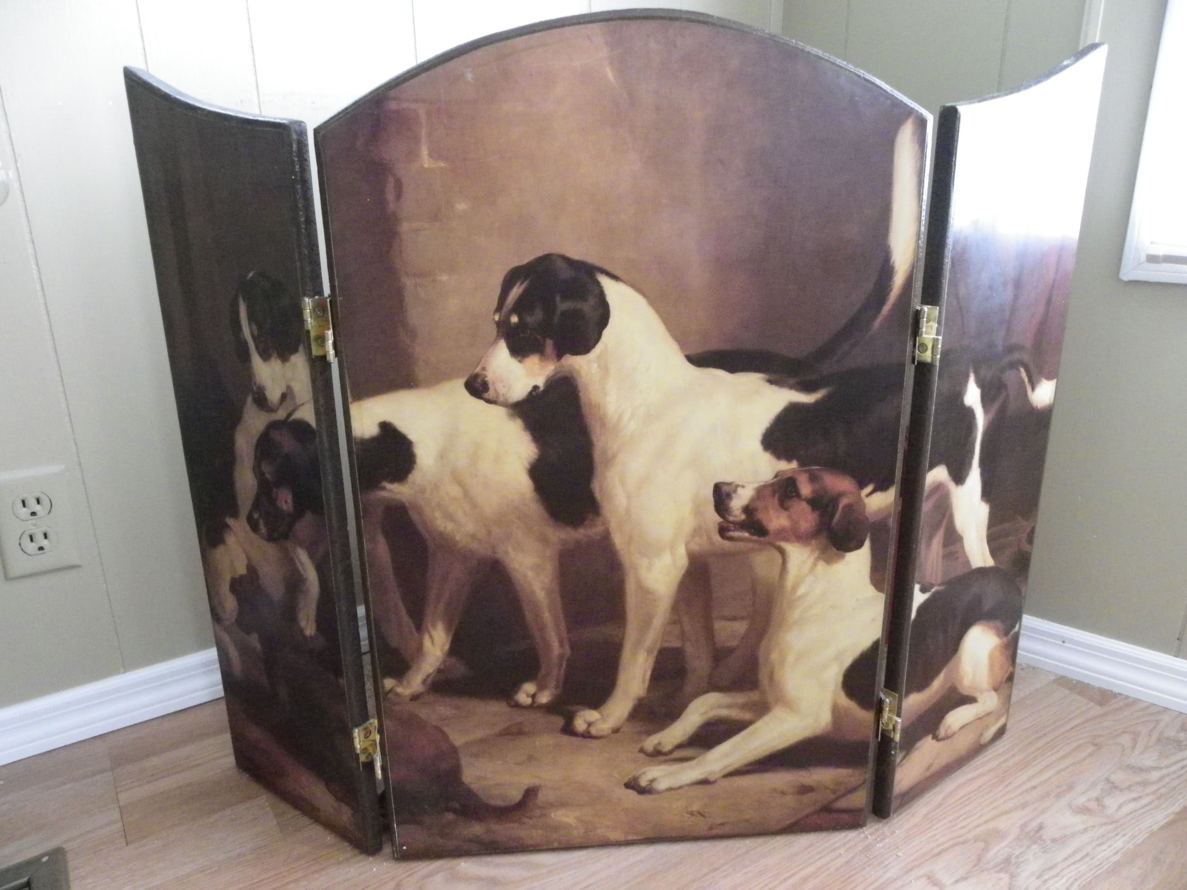 I found this pretty (Jack Russell Terriers) fireplace screen on ...