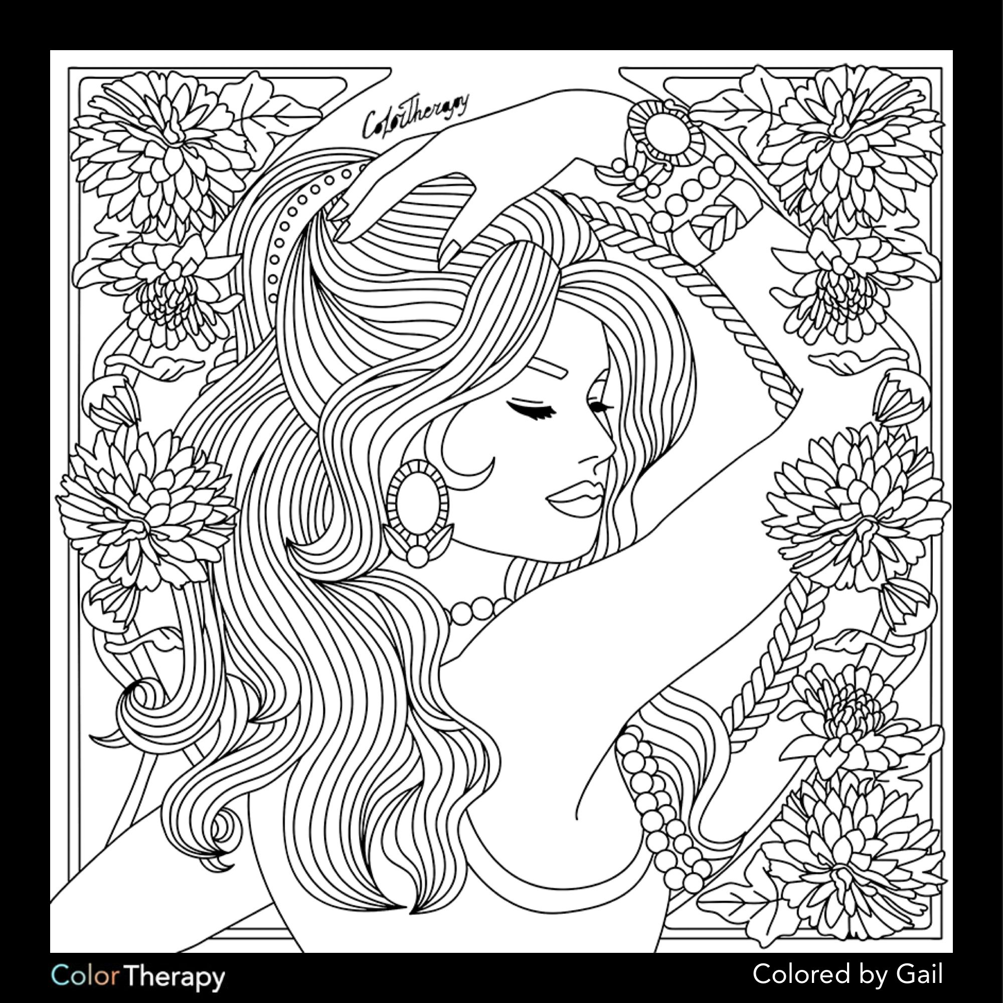 I Colored This Myself Using Color Therapy App It Was So Fun And Relaxing And It S Free Coloring Pages Color Therapy Coloring Books