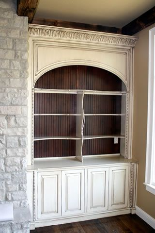Bookcase With Stained Beadboard Perfect For My Living