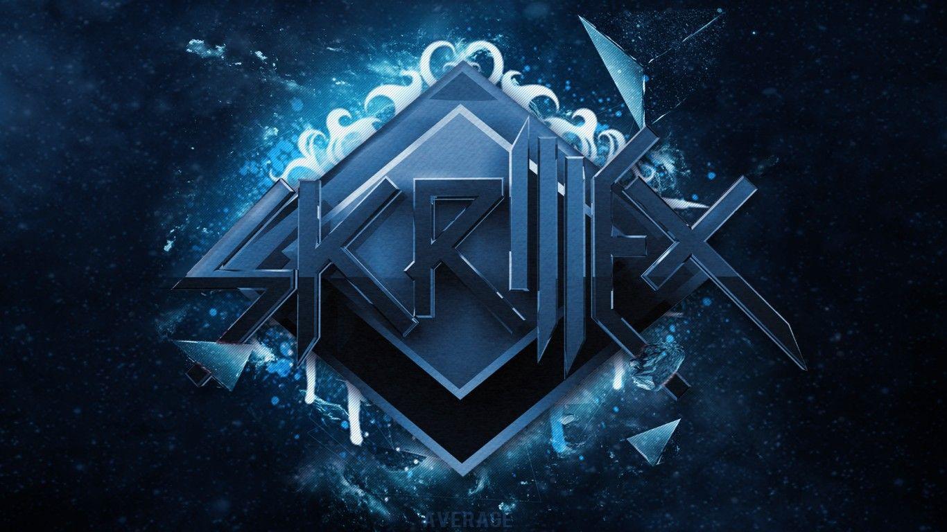 Blue Music Dubstep Skrillex Logo