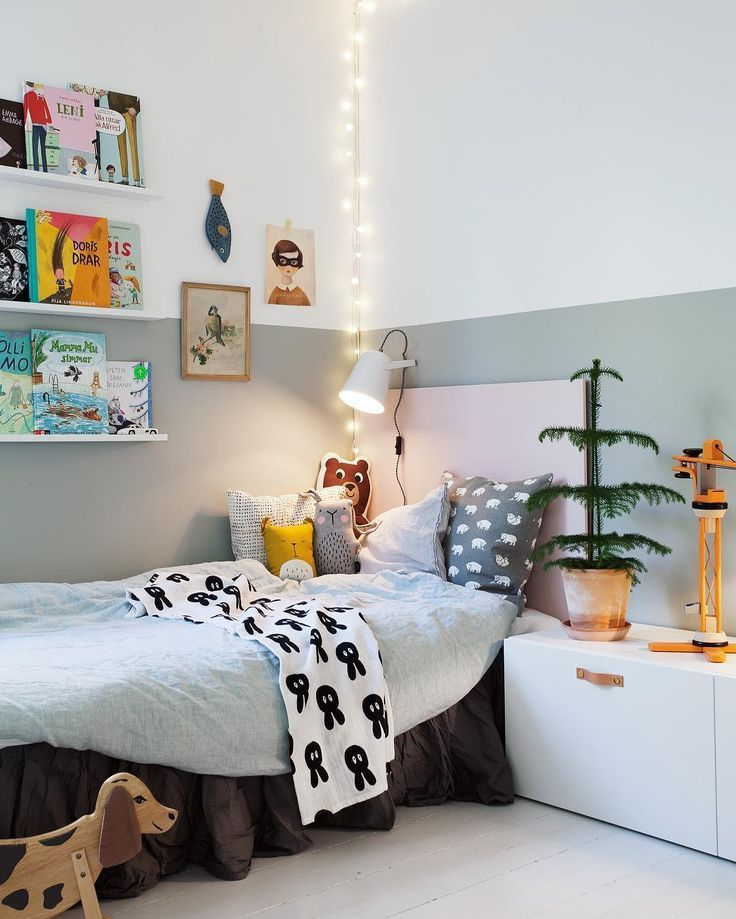 Beautiful and cozy bedroom painted in colors from Beckers Styled by