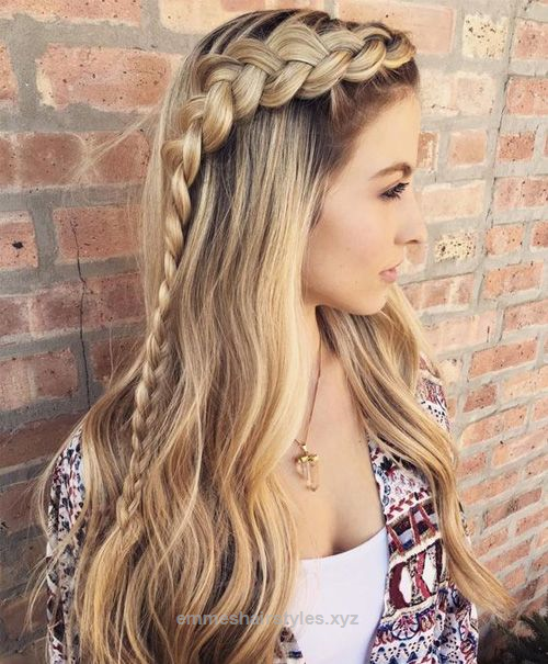 Cute Braid Hairstyles Classy Cute Braided Hairstyles For Long Hair  Hair Style And Makeup