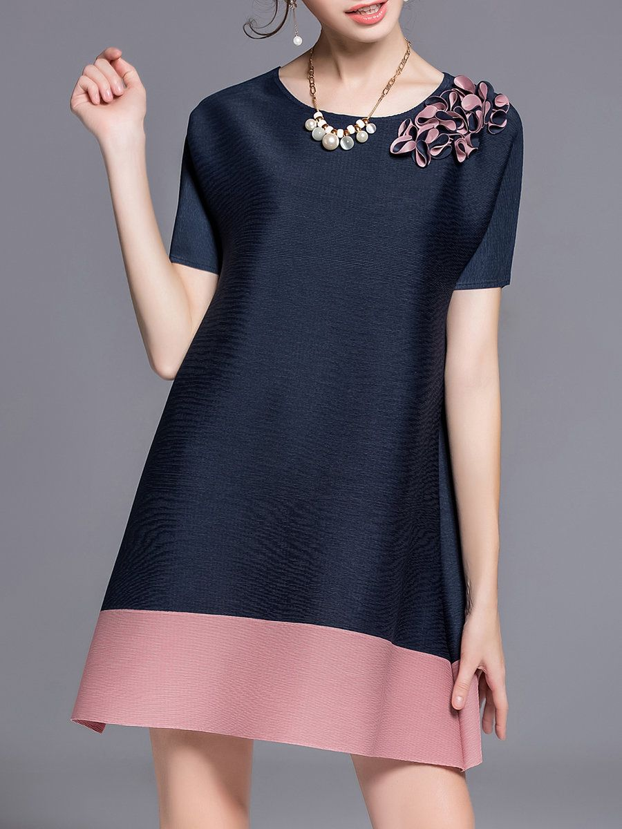 Stylewe And Just Fashion Now: KK2 Dark Blue A-line Casual