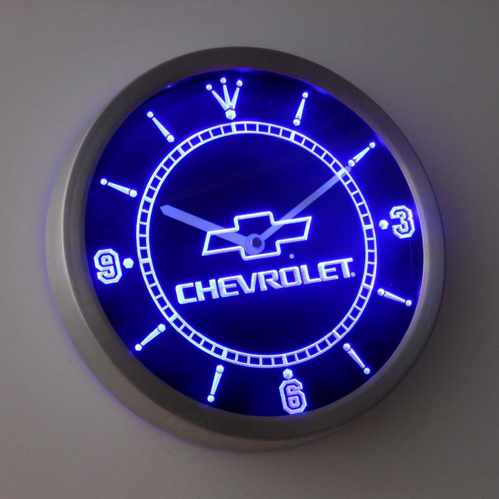 Nc0817 Chevrolet Neon Sign Led Wall Clock Ledclock