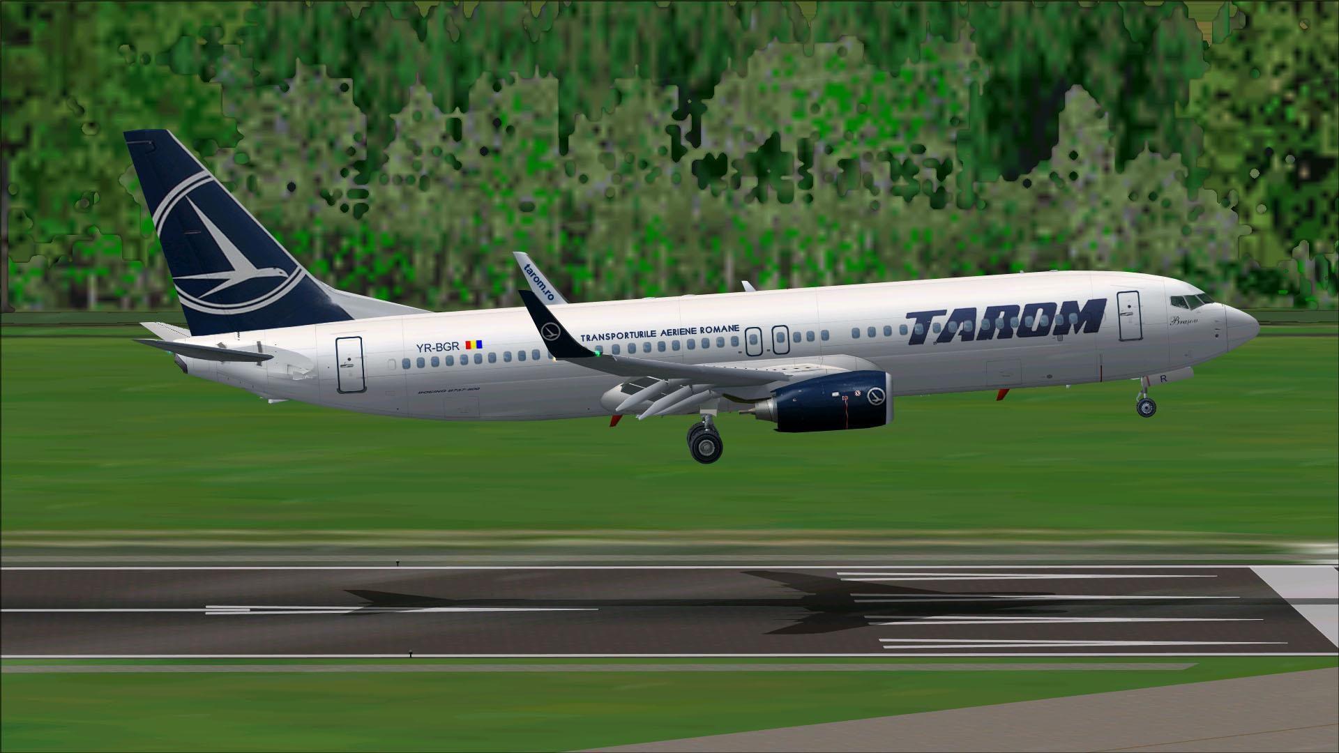 Tarom | Tarom Boeing 737-800 YR-BGR for FSX | Aviões