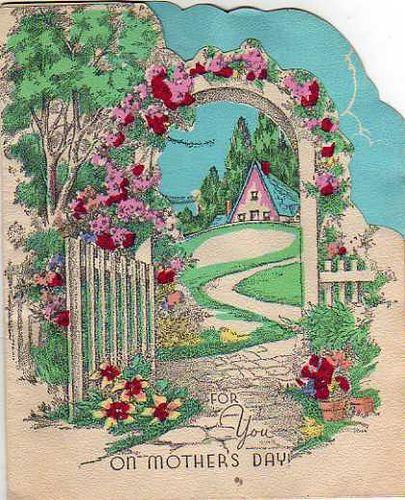Vintage Mothers Day Google Search Vintage Illustration Vintage Greeting Cards Cottage Art