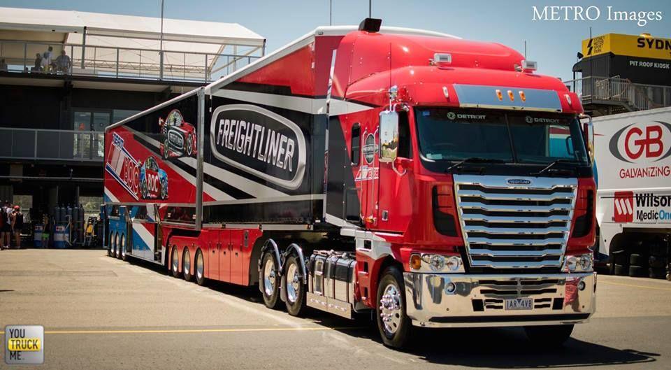 Freightliner cabover in Australia (V8 Supercars