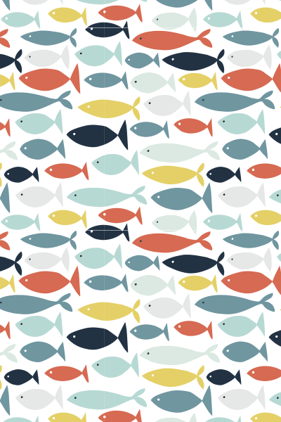 with added patterns in the fishes