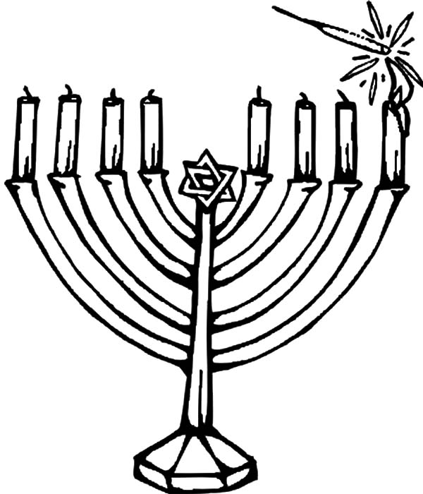 Hanukkah Candles Kinara Coloring Pages Kids Play Color Hanukkah Candles Colorful Candles Coloring Pages