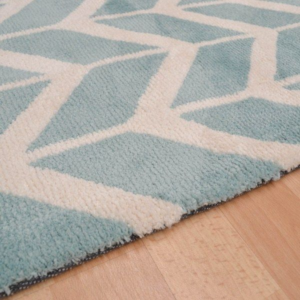 Arlo Chevron Rugs Ar05 In Blue Free Uk Delivery