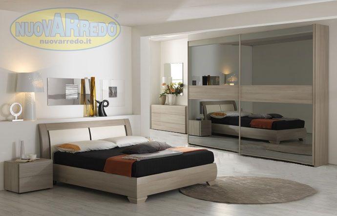 Prezzo 2490 camera in larice voyager con letto contenitore e testiera in ecopelle bianco - Prezzo letto contenitore ...