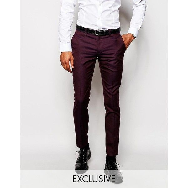 Suit trousers by Selected Homme Soft touch woven fabric Zip fly with hook  and bar fastening Side pockets and two back pockets Skinny fit - cut  closely to ...
