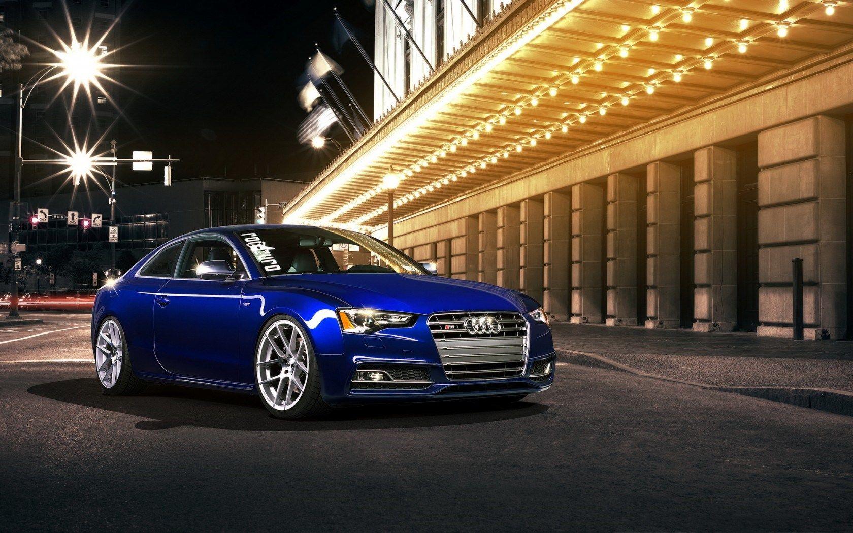 Audi S5 Coupe Tuning Street Night Hd Wallpaper Freehdwalls Audi S5 Audi Latest Cars