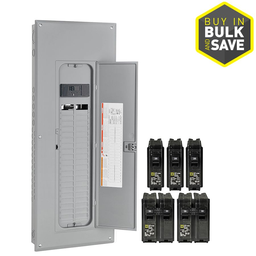 Square D Homeline 80 Circuit 200 Amp Main Breaker Plug On Neutral Load Center Value Pack 136 00 House Building In 2019 Breaker Box Home Electrical