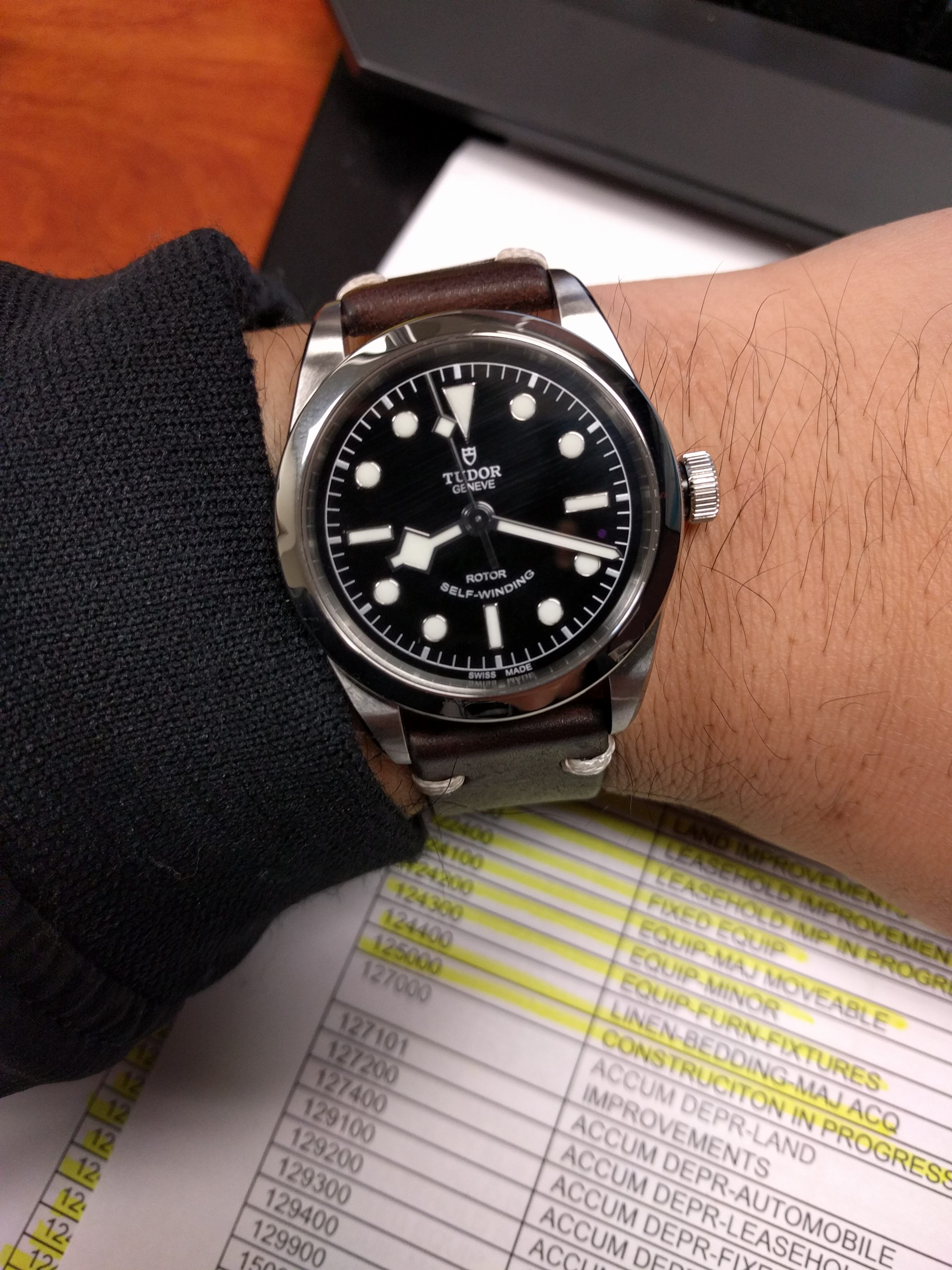 Tudor Black Bay 36 It S Not That Small Http Ift Tt 2deuhmr Tudor Black Bay Tudor Watch Vintage Watches