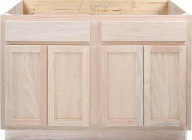 48 Inch Sink Base Cabinet Kitchen Base Cabinets Unfinished