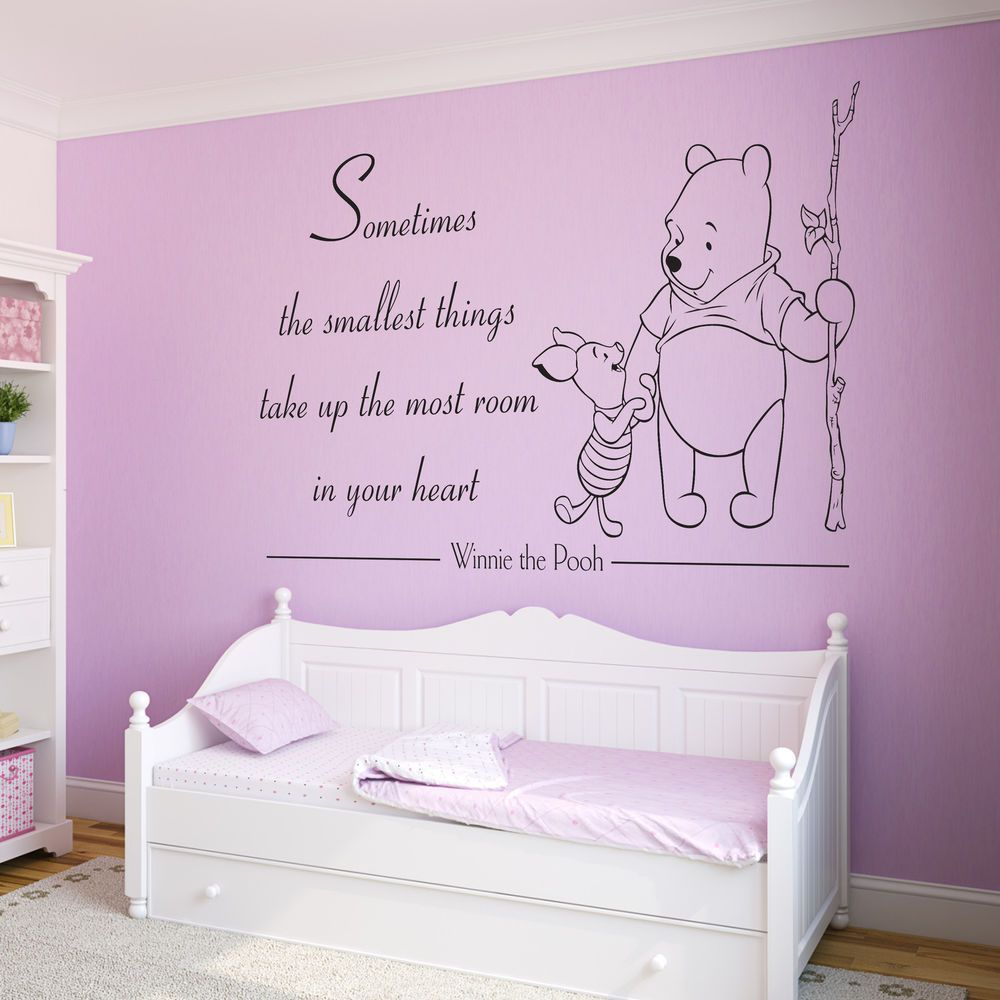 Winnie The Pooh Quote  Decal/Sticker, Vinyl Wall Art for Girls/Boys Bedroom Tp2