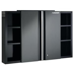 Best Husky 48 In Wall Cabinet 48Wc01Bp Thd At The Home Depot 400 x 300