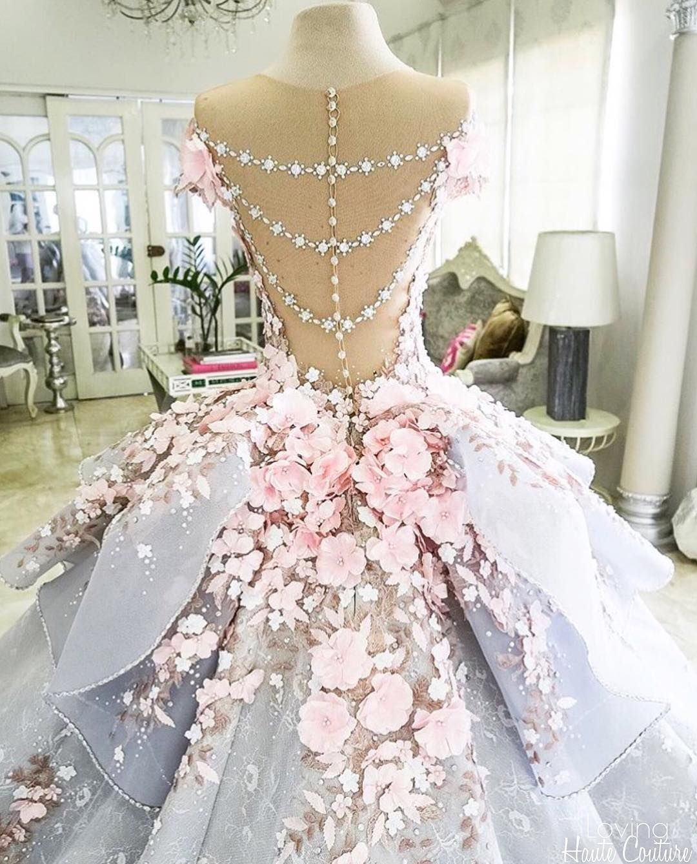 Back details mak tumang gown by lovinghautecouture fancy dresses