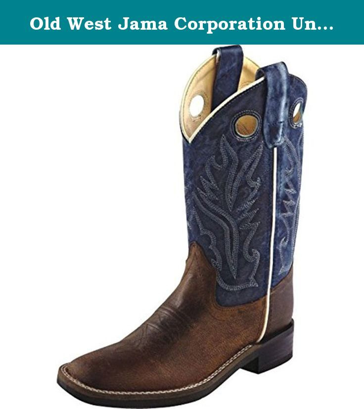 Old West Jama Corporation Boys Brown Oily Cowboy Boots